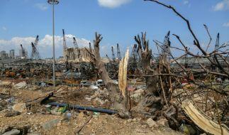 Der völlig zerstörte Hafen von Beirut nach der Explosion (Foto)