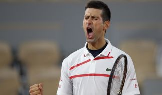 Novak Djokovic bei den French Open. (Foto)