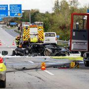 Auf der A 66 verbrannte ein Unschuldiger nach einem mutmaßlich illegalem Autorennen.