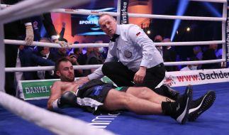 Domic Bösel verliert seine WM-Gürtel gegen Robin Krasniqi durch krachendes KO in der 3. Runde (Foto)