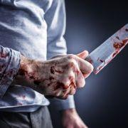 Verwirrter Muttermörder beschmiert Straße mit Opferblut (Foto)