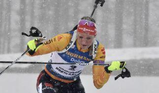 Ex-Biathlon-Weltmeisterin gab 2019 beim Sprint der Damen in Kontiolahti alles. (Foto)