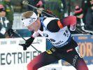 Biathlet Johannes Thingnes Bö aus Norwegen beim Biathlon-Weltcup 2019 in Kontiolahti (Finnland) in Aktion. (Foto)