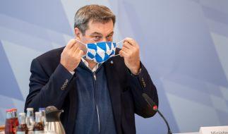 CSU-Chef Söder fordert eine bundesweite Maskenpflicht an Schulen und am Arbeitsplatz, wenn die 7-Tages-Inzidenz bei über 35 Neuinfektionen liegt. (Foto)