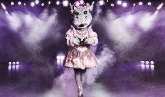 """Das Nilpferd auf der Bühne von """"The Masked Singer"""". (Foto)"""