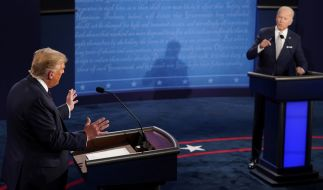 So sehen Sie das letzte TV-Duell von Trump und Biden im TV. (Foto)