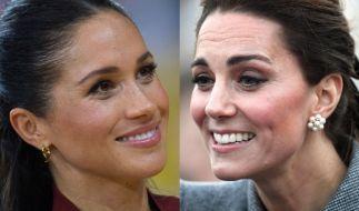 Meghan Markle und ihre Schwägerin Herzogin Kate fanden sich auch in der vergangenen Woche in den Royals-Schlagzeilen wieder. (Foto)