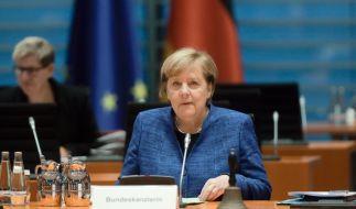Angela Merkel beriet zusammen mit den Länderchefs über einen Wellenbrecher-Lockdown im November. (Foto)