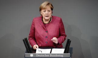 Angela Merkel verteidigt den Lockdown in einer Regierungserklärung. (Foto)