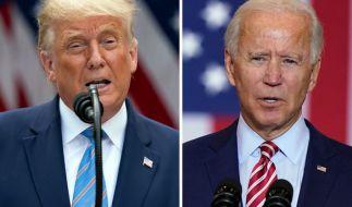 Am 3. November wählen die USA ihren neuen Präsidenten. Wer gewinnt, welche Szenarien gibt und wann steht der Gewinner fest? Alle Infos zur US-Wahl. (Im Bild: Donald Trump (l.), Joe Biden) (Foto)