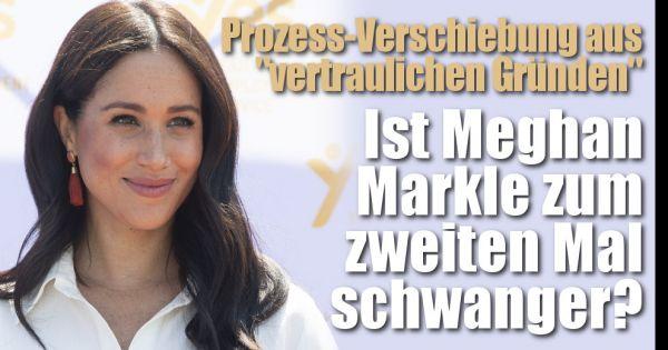"""Meghan Markle wieder schwanger?: Prozess-Verschiebung aus """"vertraulichen Gründen""""! Baby-News verdichten sich"""
