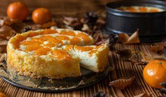 Quarkkuchen mit Orangen passt in jede Jahreszeit. (Foto)