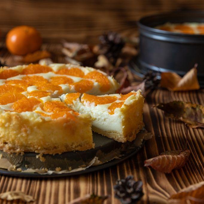 Saftiger Quark-Kuchen mit Orangen für jede Jahreszeit (Foto)
