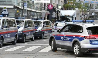 Großes Polizeiaufgebot in der Wiener Innenstadt. (Foto)