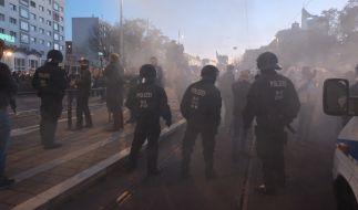 Die Anti-Corona-Demo in Leipzig ist eskaliert. (Foto)