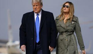Donald Trump und Frau Melania. (Foto)