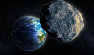 Gleich fünf Asteroiden kreuzen am Wochenende die Flugbahn der Erde, einer davon ist riesig. (Foto)
