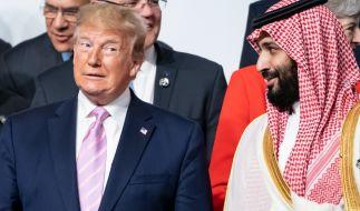 Der noch amtierende US-Präsident Donald Trump und Kronprinz von Saudi-Arabien Mohammed bin Salman bin Abdelasis al-Saud. (Foto)