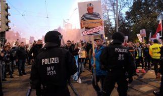 """In Leipzig geht eine weitere """"Querdenker""""-Demo über die Bühne. (Foto)"""