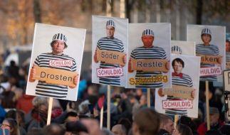 Die Querdenker riefen dazu auf, am 21. November in Leipzig Kinder mit auf die Corona-Demonstration zu nehmen. (Bild: Corona-Demo vom 7.11.2020 in Leipzig) (Foto)