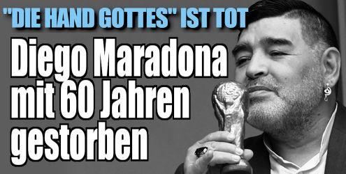 Diego Maradona ist tot (Foto)