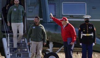 Familie Trump fliegt nach der Niederlage wieder einmal zum Golf. (Foto)