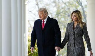 Melania Trump und Ehemann Donald Trump. (Foto)