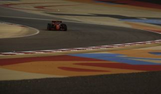 Charles Leclerc im Ferrari auf der Rennstrecke. (Foto)
