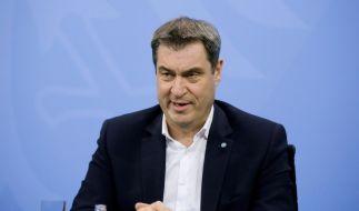 """Bayerns Ministerpräsident Markus Söder plädiert für einen """"kompletten Lockdown"""". (Foto)"""