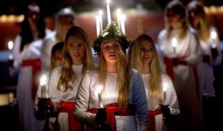 Das skandinavische Luciafest wird alljährlich am 13. Dezember nicht nur in Schweden, sondern auch in anderen Ländern gefeiert. (Foto)