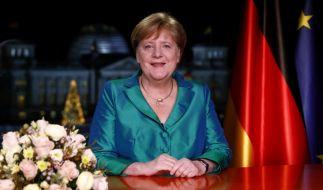 Bundeskanzlerin Angela Merkel (CDU), aufgenommen nach der Aufzeichnung ihrer Neujahrsansprache im Kanzleramt. (Foto)
