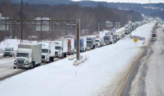 Ein schwerer Wintersturm hält die US-Ostküste in seinem Griff. (Foto)