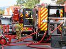 Die Feuerwehr rückte in der Nacht zu Freitag zu einem Wohnhausbrand im Stadtteil Gorbitz aus, bei dem 10 Menschen verletzt wurden (Symbolbild). (Foto)