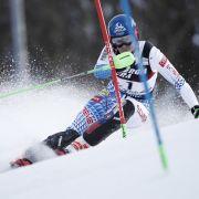 Die Slowakin Petra Vlhova in Aktion beim Ski-alpin-Weltcup in Zagreb in der Disziplin Slalom.