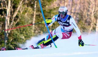Ramon Zenhaeusern aus der Schweiz in Aktion beim Ski-alpin-Weltcup in Zagreb in der Disziplin Slalom. (Foto)