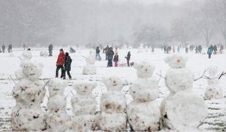 In weiten Teilen Deutschlands hat es am Wochenende geschneit. (Foto)