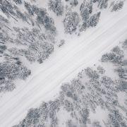 Ein Wintersturm wütet über Skandinavien.