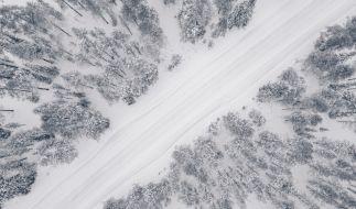 Ein Wintersturm wütet über Skandinavien. (Foto)