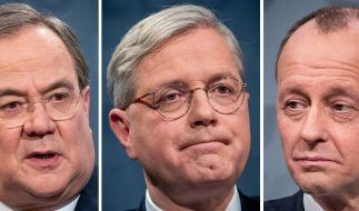 Die drei Kandidaten für den CDU-Parteivorsitz (v.l.n.r): Armin Laschet, Norbert Röttgen und Friedrich Merz. (Foto)