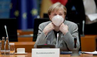 Angela Merkel will den Mega-Lockdown trotz sinkender Zahlen. (Foto)