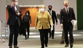 Bundeskanzlerin Merkel und die Ministerpräsidenten der Länder haben sich auf Corona-Beschlüsse geeinigt. (Foto)