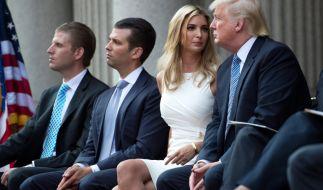 Donald Trump mit seiner Tochter Ivanka Trump und seinen beiden ältesten Söhnen Donald Trump Jr. und Eric Trump. (Foto)
