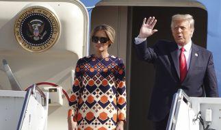 Nach diesem Foto nahm Melania Trump Reißaus. (Foto)