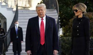 Immer schön auf Abstand: Donald Trump und seine Frau Melania. (Foto)