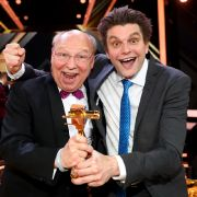 Die Comedians Hans-Joachim Heist (l) und Lutz van der Horst aus der ZDF-