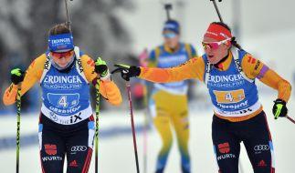 Denise Herrmann und Franziska Preuß haben sich für die Biathlon-WM 2021 in Pokljuka qualifiziert. (Foto)