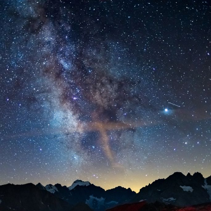 Der letzte Winter-Vollmond undFeuerkugeln am Nachthimmel (Foto)