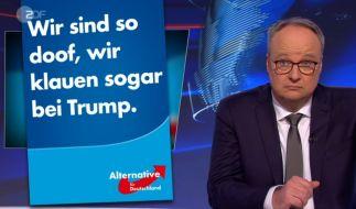 Der AfD graut's vor nichts: Sie kupfert sogar Ideen von Donald Trump ab - und hetzt gegen die Briefwahl. Oliver Welke ist fassungslos. (Foto)