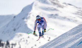 Thomas Dreßen in Aktion bei der Ski-alpin-Abfahrt der Herren. (Foto)