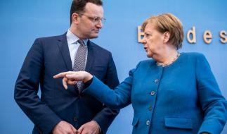Angela Merkel und Jens Spahn. (Foto)